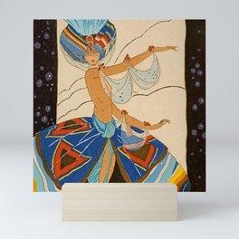 """""""Scheherazade Dancer"""" by Umberto Brunelleschi Mini Art Print"""
