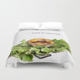 La Cuisine Fusion - Pastel de Nata Salad Duvet Cover