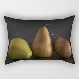 Still LIfe of Fresh Pears on a Dark Surface Rectangular Pillow