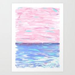 Pink Sky Delight Art Print