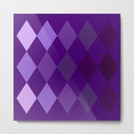 Purple Argyle Pattern Metal Print