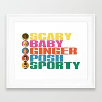 spice girls Framed Art Prints featuring SPICE GIRLS by Chilli Cactus