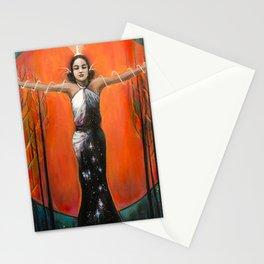Strength // Woman Goddess Feminine Empower Earth Moon Sun Stars Energy Healing Feminist Feminism Stationery Cards