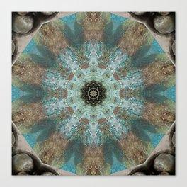 Rustic Fountain Mandala Canvas Print