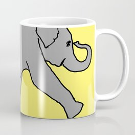 elephant drawing, elephant painting, elephant art, Coffee Mug