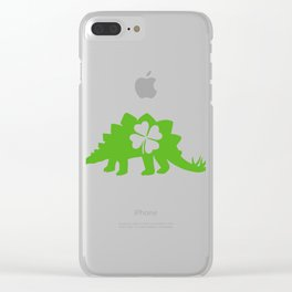 "Guys! Have This St. Patrick's Tee Saying ""Spinosaurus"" T-shirt Design Irish Four-leaf Clover Clear iPhone Case"