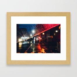 From My Umbrella Framed Art Print