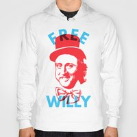 willy wonka Hoodies featuring Free Willy (Wonka) by Tabner's