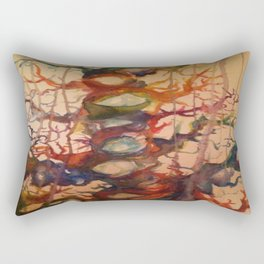 Crying Tree Watercolor Painting Rectangular Pillow