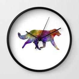 Kuvasz in watercolor Wall Clock