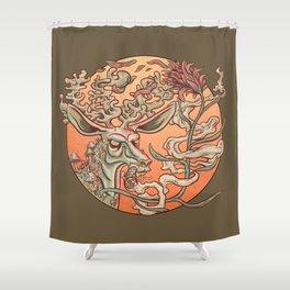 Deer Smoke & Indian Paintbrush Shower Curtain