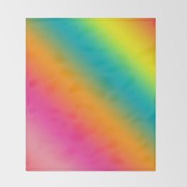 Blended Rainbow Time To Feel Good Throw Blanket