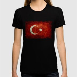 National flag of Turkey, Distressed worn version T-shirt