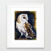 charmaine Framed Art Prints featuring Barn Owl Print by Charmaine Diedericks