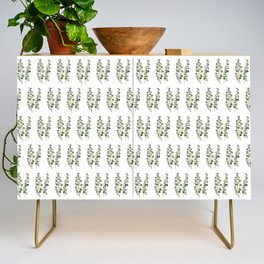 Eucalyptus (watercolor finger painting) Credenza
