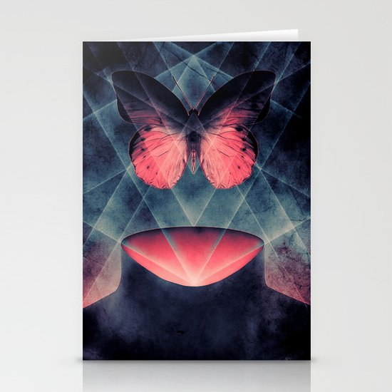 Beautiful Symmetry Butterfly Stationery Cards