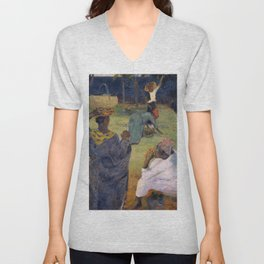 1887 - Gauguin - Among the mangoes at Martinique Unisex V-Neck