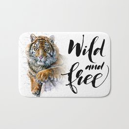 Tiger Wild and Free Bath Mat