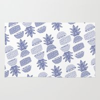pineapples Area & Throw Rugs featuring Pineapples (Light/Sliced) by Norman Duenas