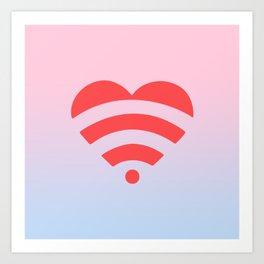 Wireless Love Art Print