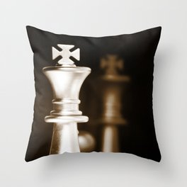 Chess-Sliver King Throw Pillow