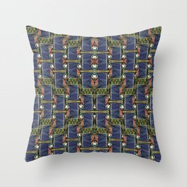 Cool Woven Blue Throw Pillow