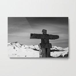 Stand Tall Inuksuk Metal Print