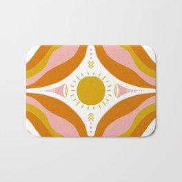 sunshine mandala Bath Mat