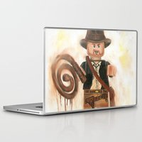indiana jones Laptop & iPad Skins featuring Indiana Jones Lego by Toys 'R' Art