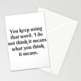 What You Think It Means Stationery Cards