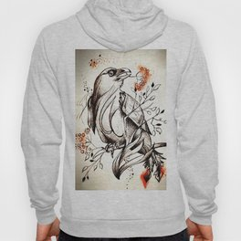 Bird eating branches Hoody