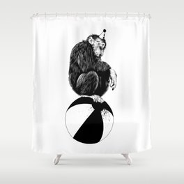 Chimp Shower Curtain