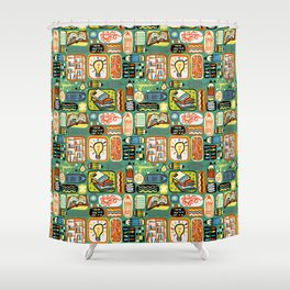 Reading and Writing Shower Curtain