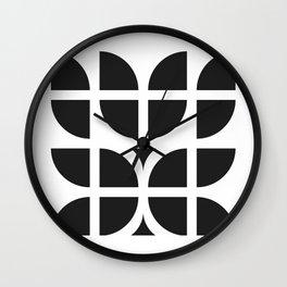 Black tulips Wall Clock