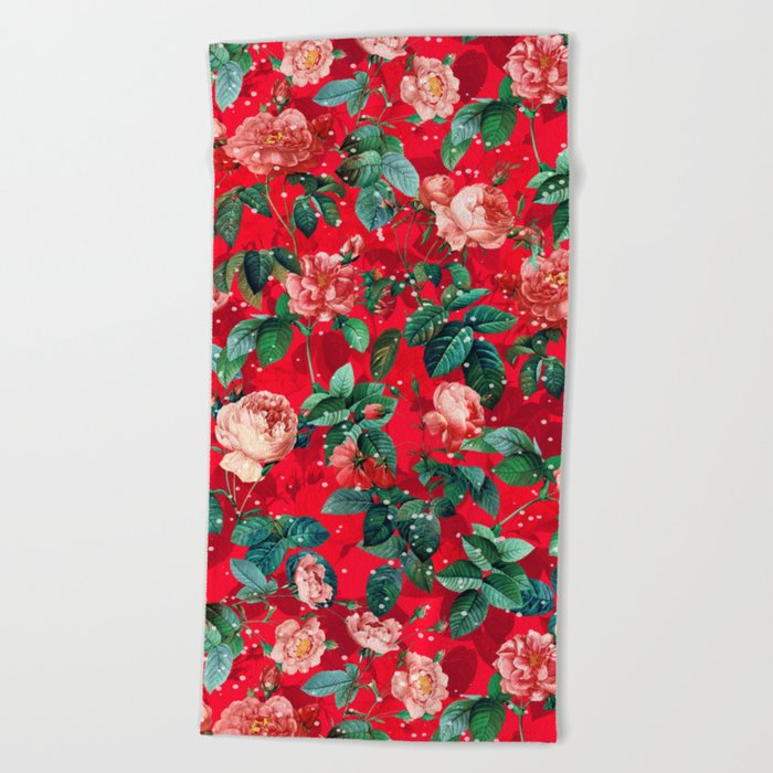 Merry Christmas Beach Towel