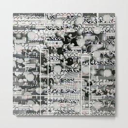 Divergence Toward Chaotic Attractors (P/D3 Glitch Collage Studies) Metal Print