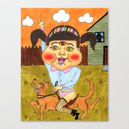 Doggy Ride Canvas Print