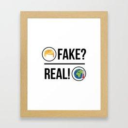 Global Warming is Real! Framed Art Print
