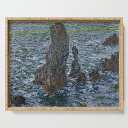 "Claude Monet ""Pyramides Port Coton"" Serving Tray"