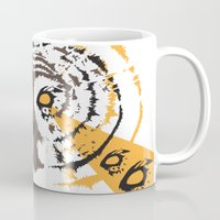 psych Mugs featuring Psych Owl by T Dupuis