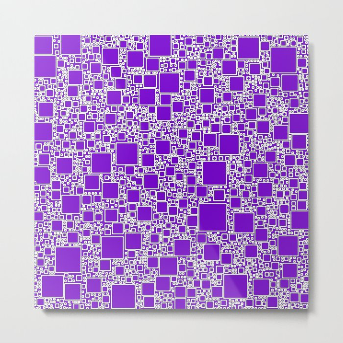 Boxes Purple Metal Print