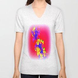 abstract xxxx Unisex V-Neck