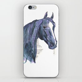 Blue & Purple Horse Illustration iPhone Skin