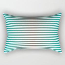 Stripes In Black & Blue Rectangular Pillow