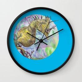 Seahorse Watercolor Wall Clock