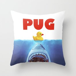 Pug Attack Throw Pillow