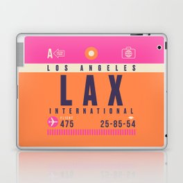 Retro Airline Luggage Tag - LAX Los Angeles Laptop & iPad Skin