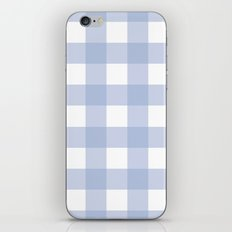 Pantone 2016: Serenity Gingham iPhone & iPod Skin
