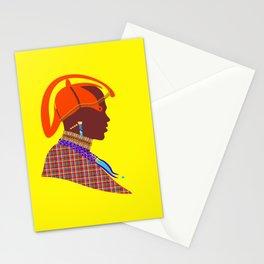 zollione art shop massai warrior african art kenyan man graphic digital art design Stationery Cards