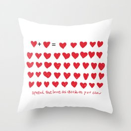 love and red hearts Throw Pillow